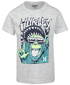 Hurley Little Boys Monkey-Print Cotton T-Shirt