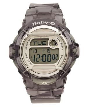 Baby-g Watch, Women's Digital Gray Resin Strap 43x46mm BG169R-8