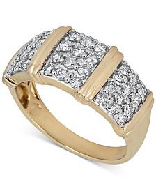 Diamond Multi-Cluster Statement Ring (1 ct. t.w.) in 14k Gold