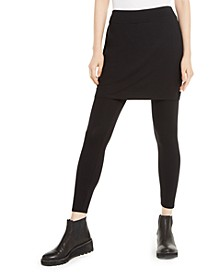 Stretch Jersey Knit Skirted Leggings, Regular & Petite, Created for Macy's