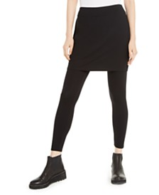 Eileen Fisher Stretch Jersey Knit Skirted Leggings, Regular