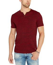 Buffalo David Bitton Men's Katric Solid Pocket Henley