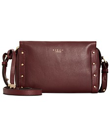 Zip-Top Leather Crossbody