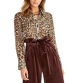 Sheer Leopard-Print Top