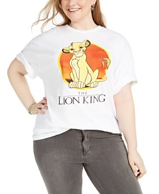 Mighty Fine Trendy Plus Size Cotton The Lion King Graphic-Print T-Shirt