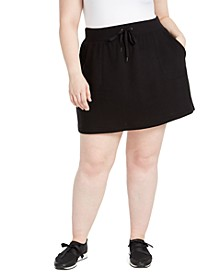 Plus Size Drawstring-Waist Skort, Created For Macy's