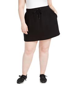 Ideology Plus Size Drawstring-Waist Skort, Created For Macy's