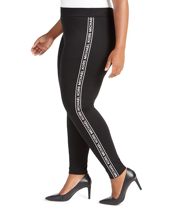Michael Kors Plus Size Logo Leggings
