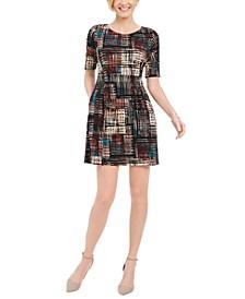 Petite Plaid Fit & Flare Dress