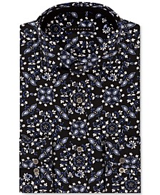 Men's Tall Classic/Regular-Fit Floral-Print Dress Shirt
