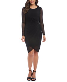 Karen Kane Mesh-Trim Bodycon Dress