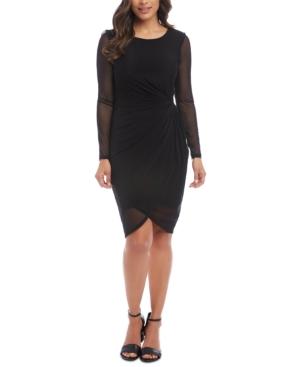 Karen Kane Dresses MESH-TRIM BODYCON DRESS