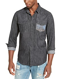Men's Dark Chambray Shirt, Created For Macy's
