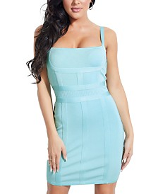 GUESS Talisha Square-Neck Bandage Dress