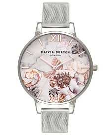 Olivia Burton Women's Stainless Steel Mesh Bracelet Watch 38mm