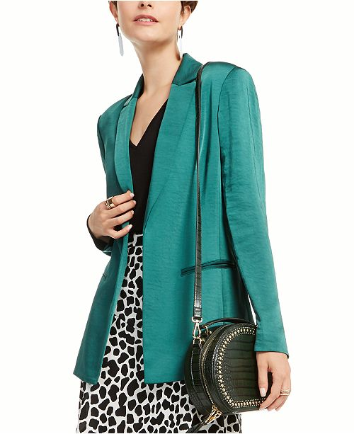 INC International Concepts I.N.C. Satin Open-Front Blazer, Created for Macy's