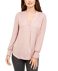 Petite V-Neck Top, Created for Macy's