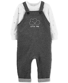 Carter's Baby Boys 2-Pc. Cotton T-Shirt & Overalls Set