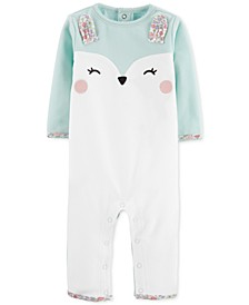 Baby Girls Fleece Bunny Coverall