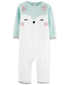 Carter's Baby Girls Fleece Bunny Coverall