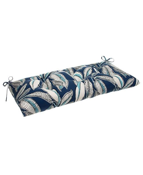 EF Home Decor EF Home Decor Indoor/Outdoor Reversible Tufted Loveseat/Bench Cushion With Ties, San Juan
