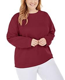 Plus Size Crewneck Fleece Sweatshirt, Created for Macy's