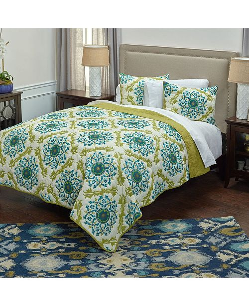 Rizzy Home Riztex USA Madeline Marie Queen Quilt