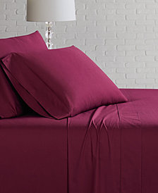 Brooklyn Loom Solid Cotton Percale Twin Sheet Set