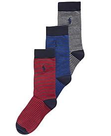Polo Ralph Lauren Little & Big Boys 3-Pk. Striped Socks