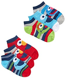 Toddler Boys 6-Pk. Sesame Street Low-Cut Socks