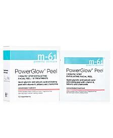 m-61 by Bluemercury PowerGlow Peel 1 Minute 1-Step Exfoliating Facial Peel – 10 Treatments