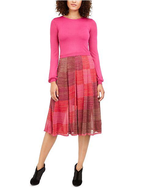 Trina Turk Colorblocked Shimmer Skirt