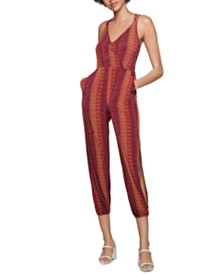 BCBGeneration Printed Surplice Jumpsuit