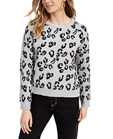 Juniors' Animal-Print Sweater