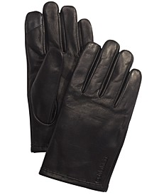 Men's Leather Touch-Screen Gloves