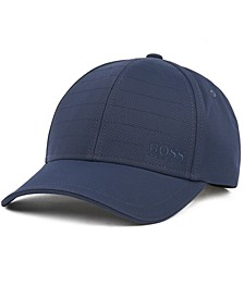 BOSS Men's Cap-Silas Water-Repellent Midweight Dobby Cap