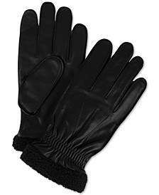 Men's Boulder Leather Touch-Screen Gloves