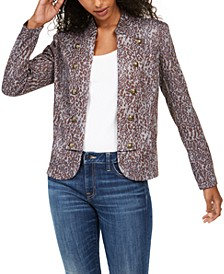 Printed Button-Trim Jacket, Created for Macy's