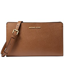 Jet Set Travel Leather Crossbody Clutch
