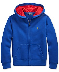 Polo Ralph Lauren Big Boys Fleece Knit Hooded Sweatshirt