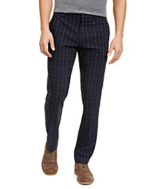 Men's Modern-Fit THFlex Stretch Windowpane Dress Pants