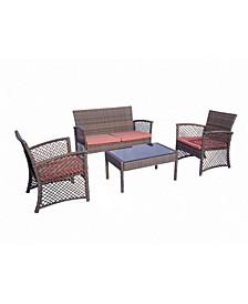 4-Piece Woven Rattan Wicker Sofa Set