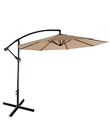 Westin Furniture 10' Cantilever Hanging Patio Umbrella