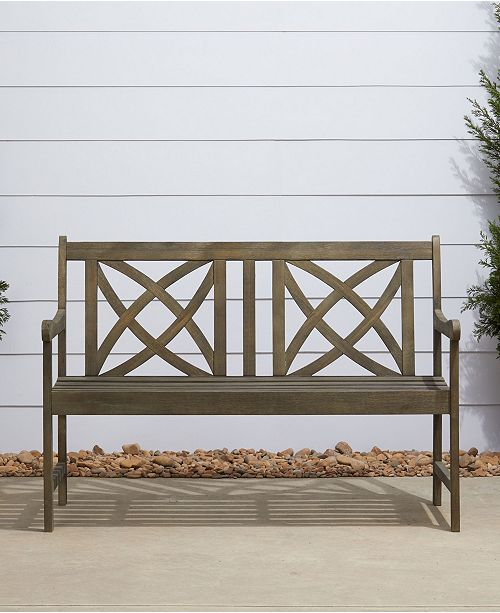 Amazing Renaissance Outdoor Patio Hand Scraped Wood Garden Bench Ocoug Best Dining Table And Chair Ideas Images Ocougorg