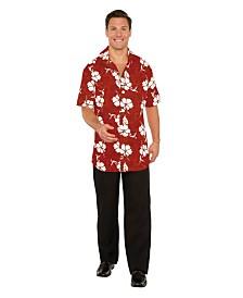 BuySeasons Men's Button Front Hawaiian Shirt Adult Costume