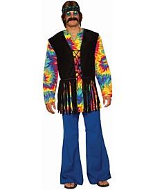Men's Hippie Tie Dye Dude Adult Costume