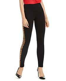 INC Animal-Print Tuxedo Skinny Pants, Created for Macy's