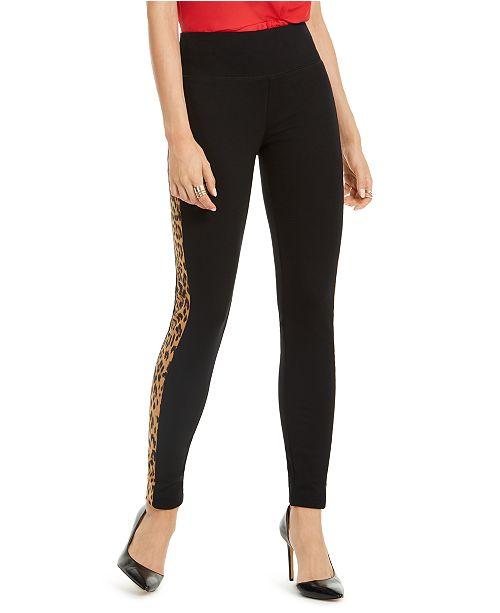 INC International Concepts INC Animal-Print Tuxedo Skinny Pants, Created for Macy's
