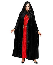 Full Length Black Cape Adult Costume