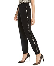 INC Animal-Print Side-Seam Joggers, Created For Macy's